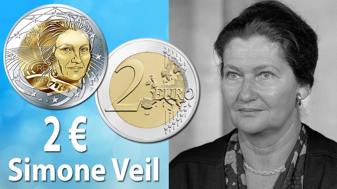Photo de la pièce de 2 euro Simone Veil