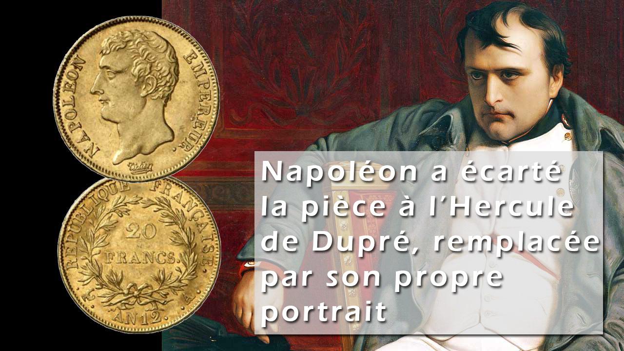 Napoléon choisit son portrait plutôt que l'Hercule de Dupré