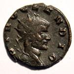 Monnaie de Claude le Gothique portrait Monnaie 22