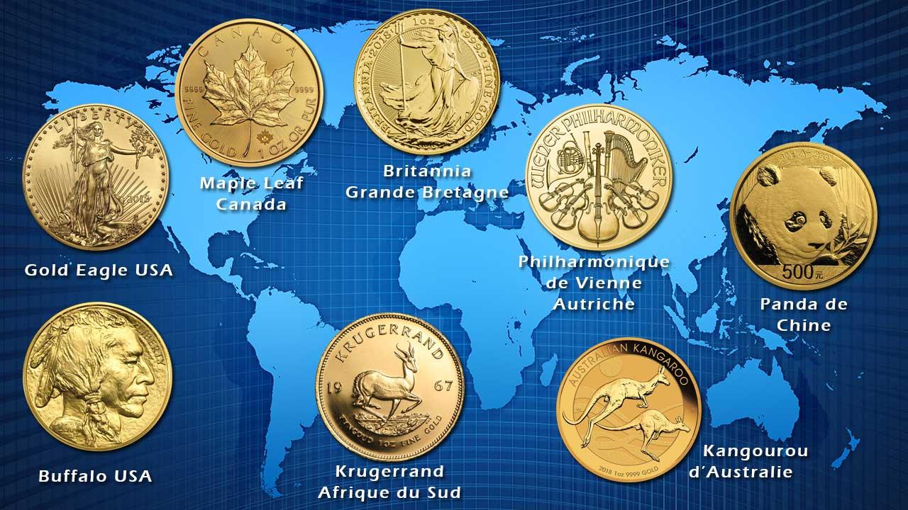 Quelques pièces d'or d'investissement modernes