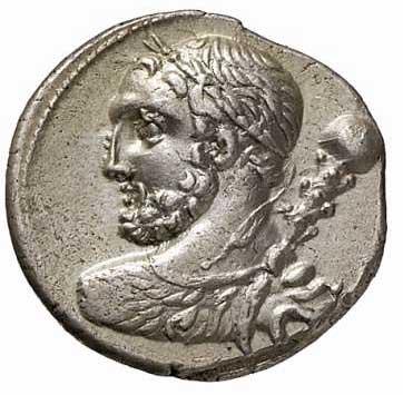 Hercule sur un denier romain