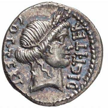 Cérès sur un denier romain