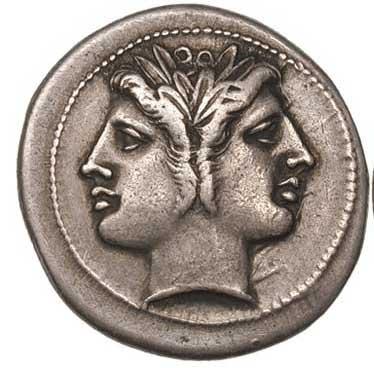 Janus sur un denier romaine