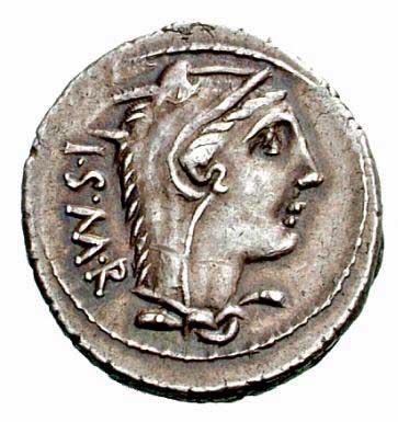 Junon Sospita sur un denier romain