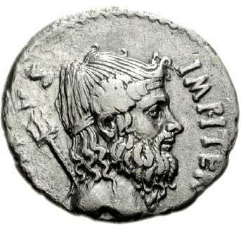 Neptune sur un denier romain