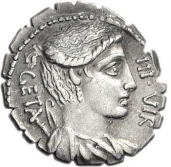Diane sur un denier romain