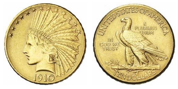 10 dollar or Indian Head