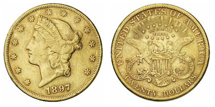 20 dollar or Liberty Head