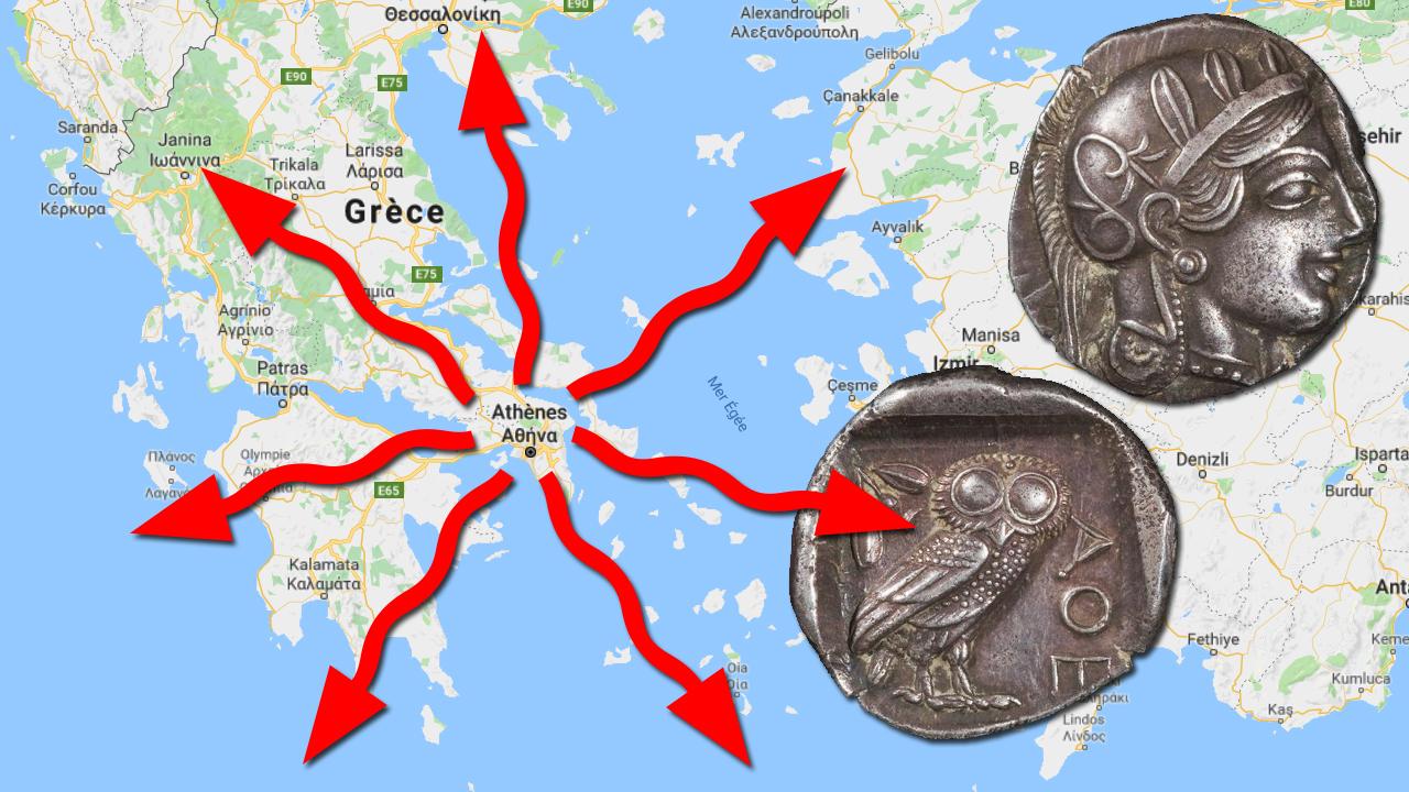 Comment Athènes a imposé sa monnaie au Vème siècle avant JC