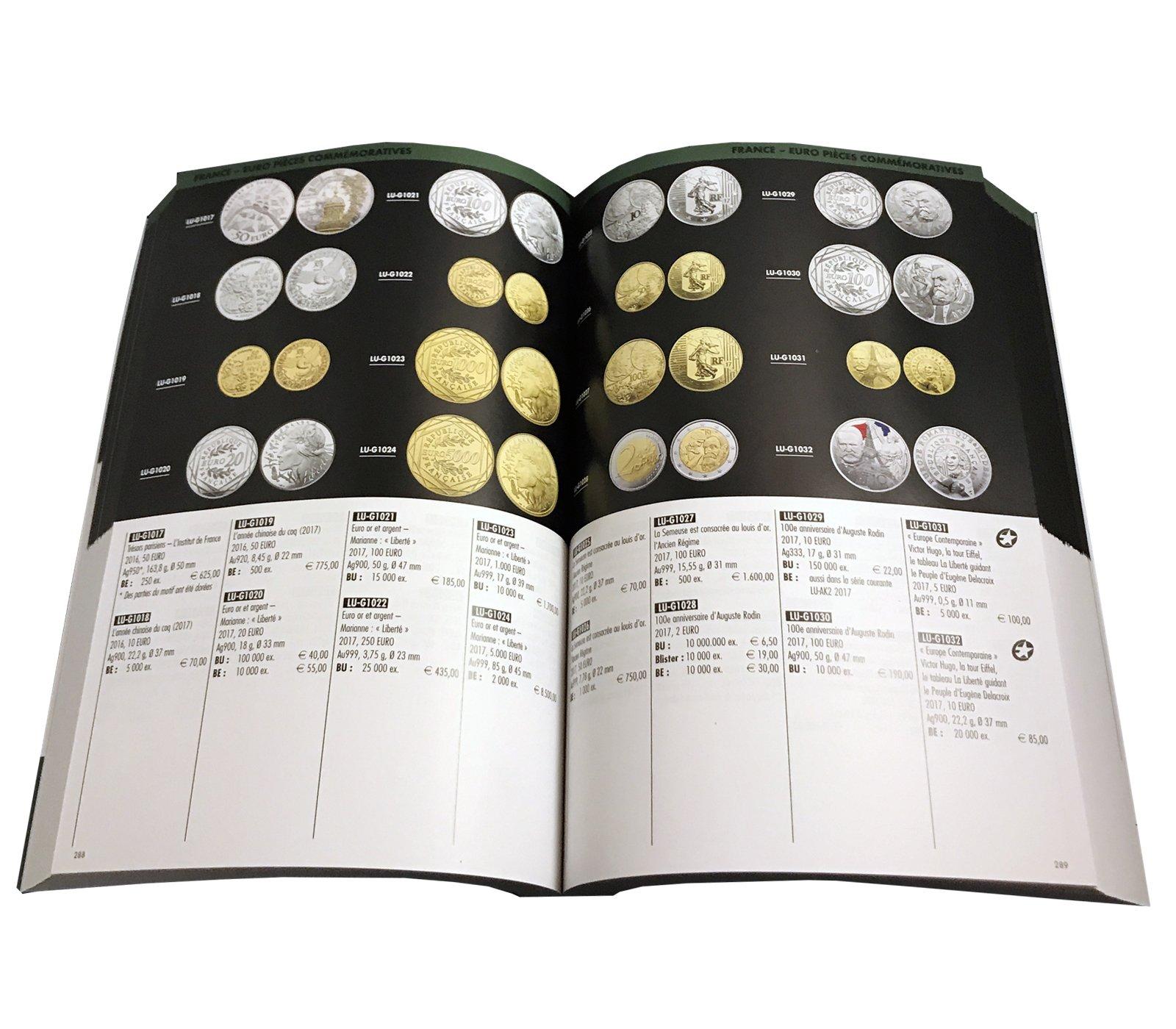 Photo d'une double page du Catalogue euro 2019