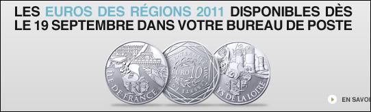Lancement de la vente des euros des régions de la monnaie de Paris le lundi 19 septembre 2011