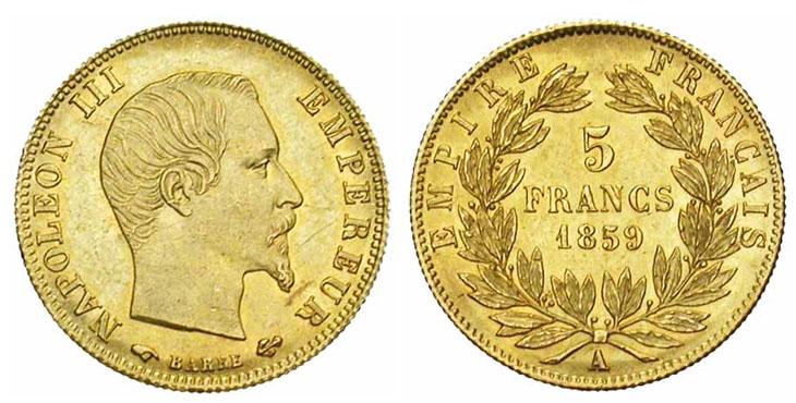 5 francs or