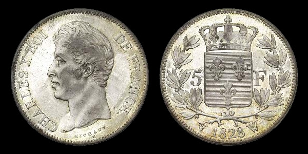 5 francs argent Charles X