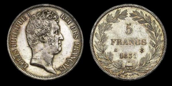 5 francs argent Louis Philippe
