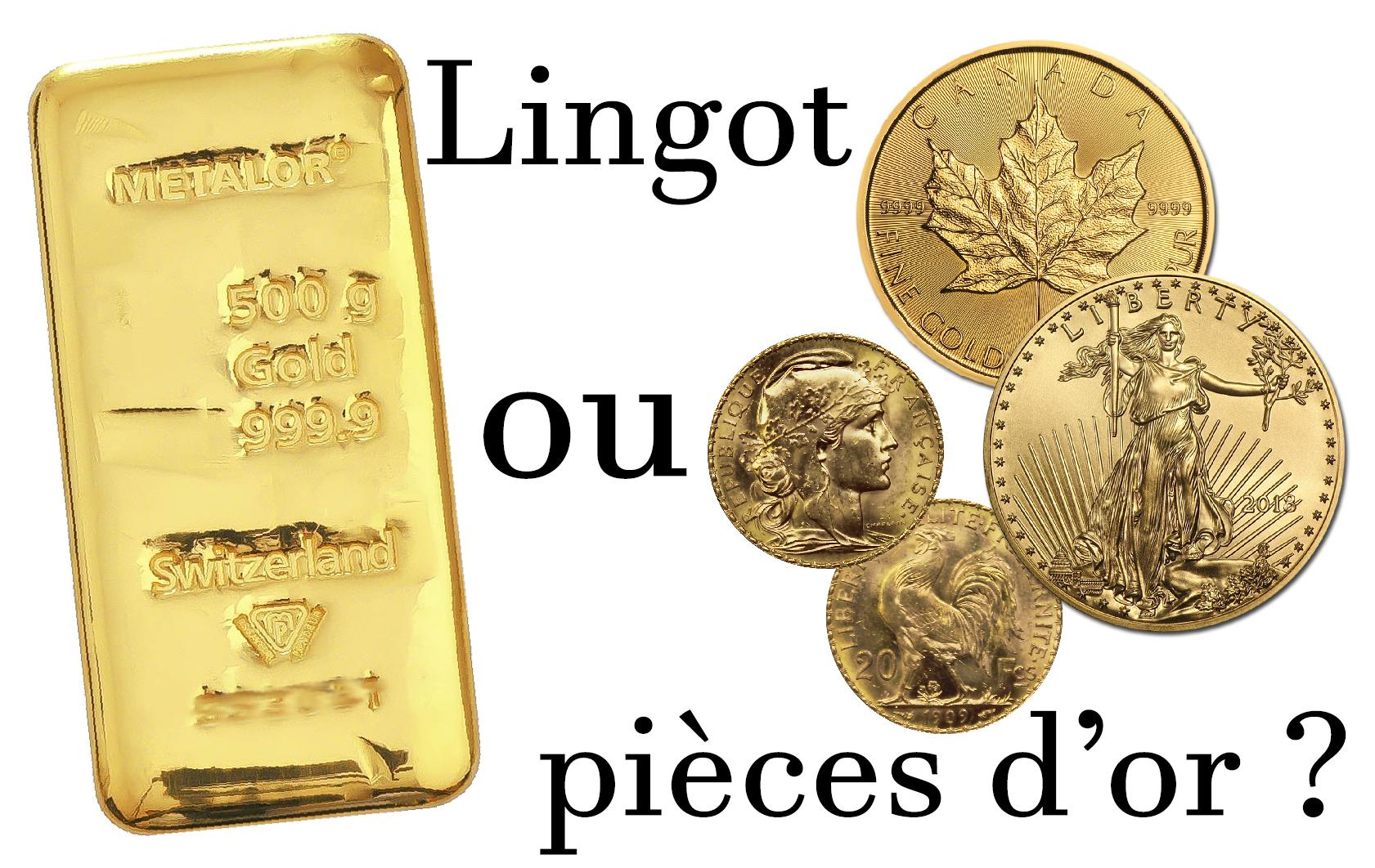 Faut-il acheter des lingots ou des pièces d'or ?