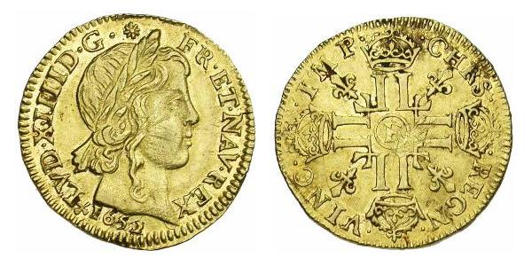 Louis d'or de Louis XIV 1652