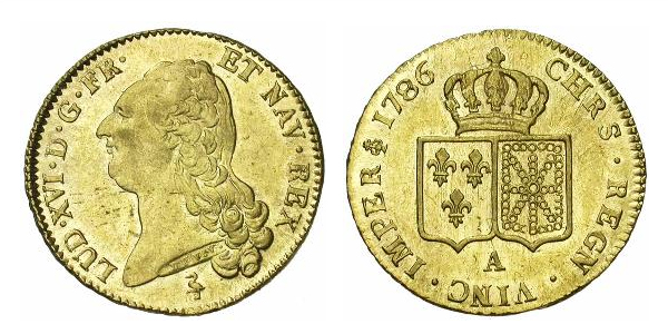 Double Louis d'or de Louis XVI 1786