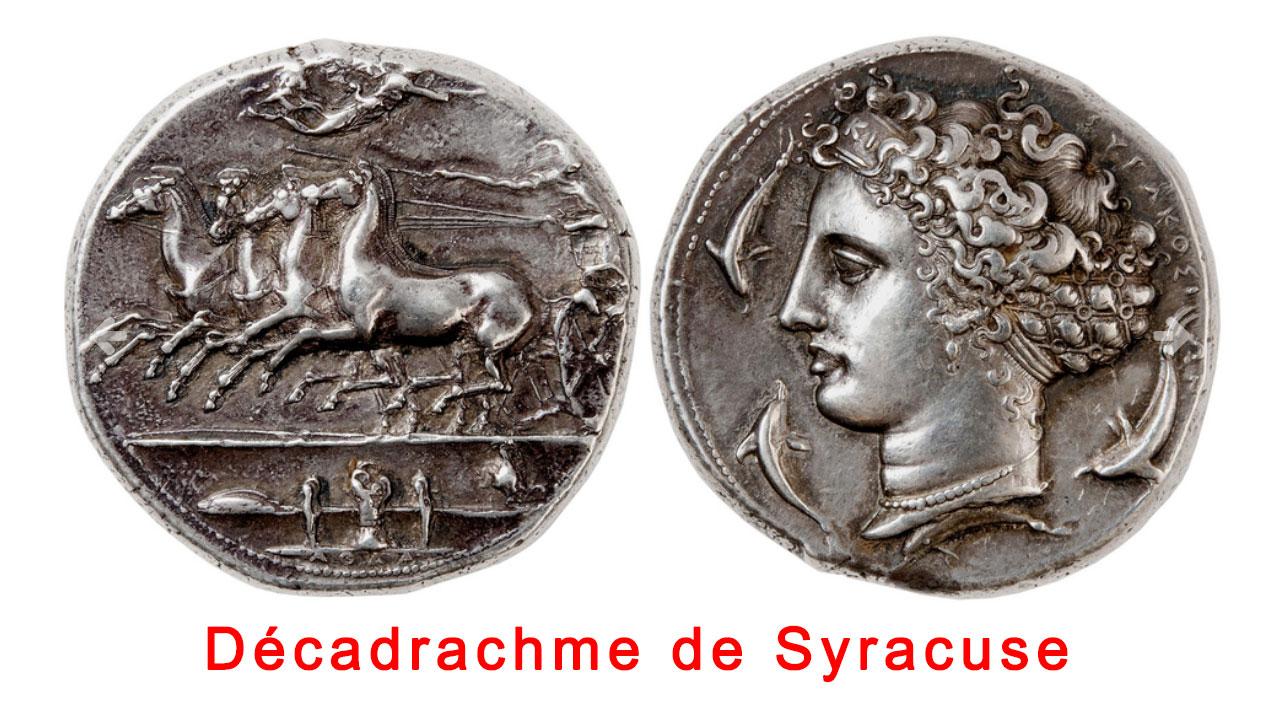 Une monnaie grecque exceptionnelle : le décadrachme de Syracuse