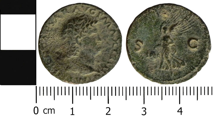 Monnaie de Néron à la Victoire Ailée