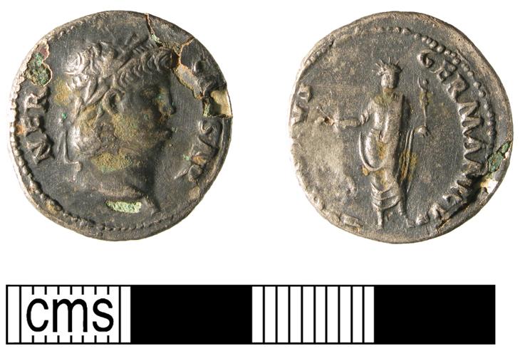 Denier de Néron revers Colosse