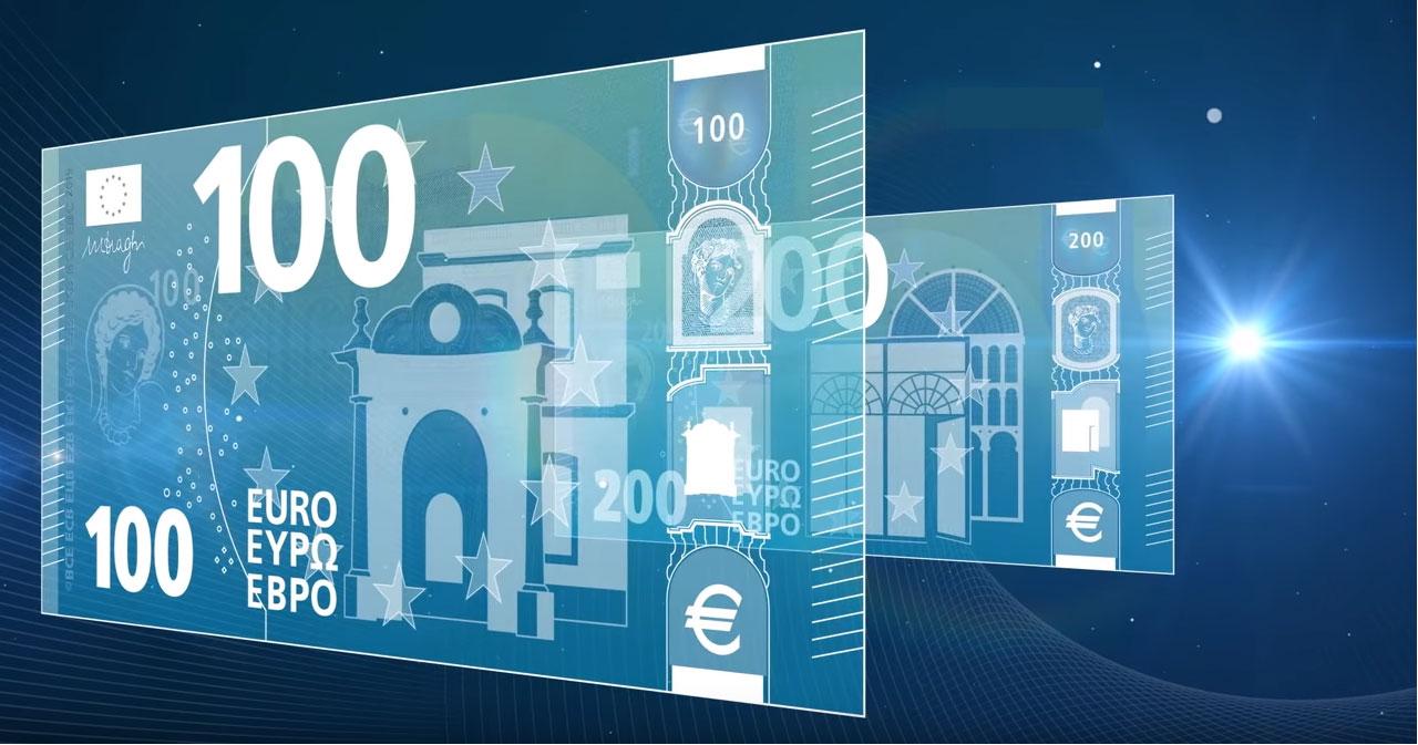 Les nouveaux billets de 100 et 200 euro comportent de multiples signes de sécurité qui les rendent extrêmement difficiles à falsifier