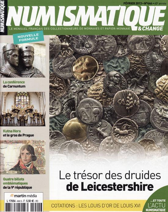 Numismatique et Change Magazine, numero 444 février 2013