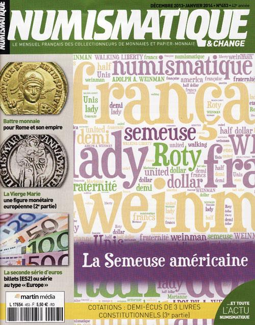 Numismatique et Change Magazine, numero 453 décembre 2013-janvier 2014
