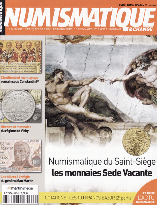 Numismatique et Change Magazine, numero 446 avril 2013