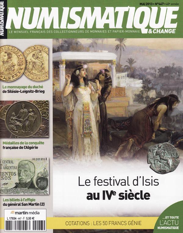 Numismatique et Change Magazine, numero 447 mai 2013
