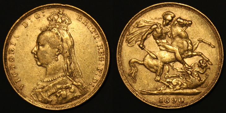 Souverain Victoria 1890