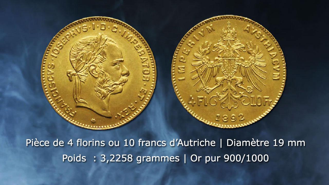Pièce de 10 francs or Autriche