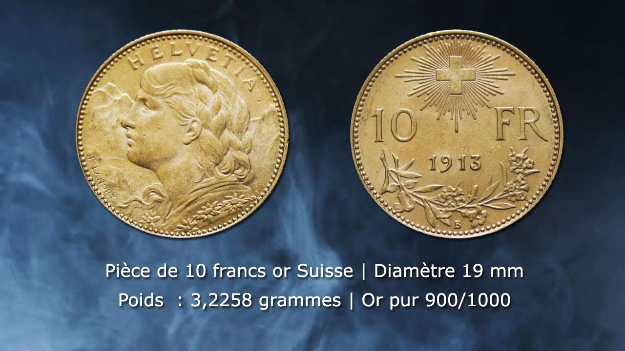 Pièce de 10 francs or Suisse