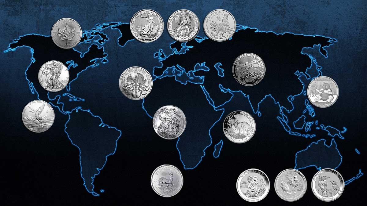 Carte des nouvelles pièces d'argent 217