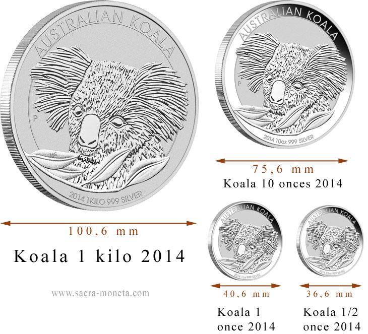 Photo des pièces d'argent au Koala 2014