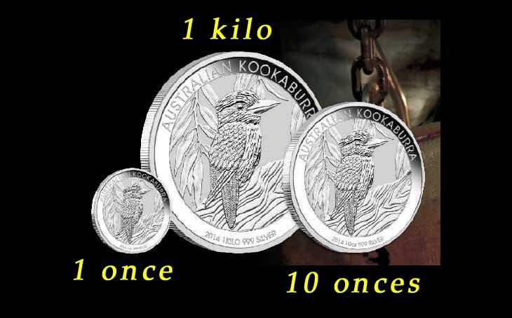 Photos des pièces en argent Kookaburra 2014