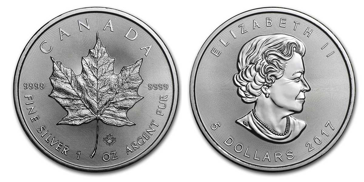 Pièce d'argent 1 once Canada Maple Leaf 2017