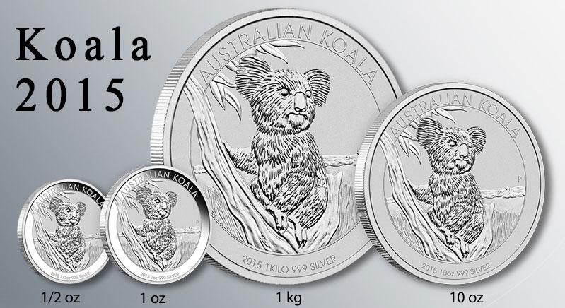 Pieces argent Koala Australie 2015