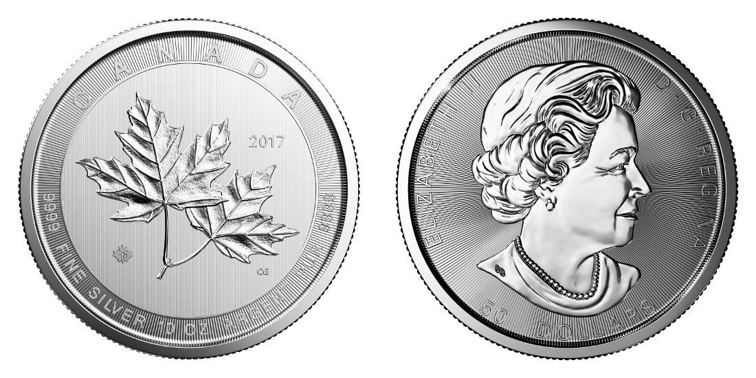 Pièce argent Canada 10 onces Maple Leaf 2017