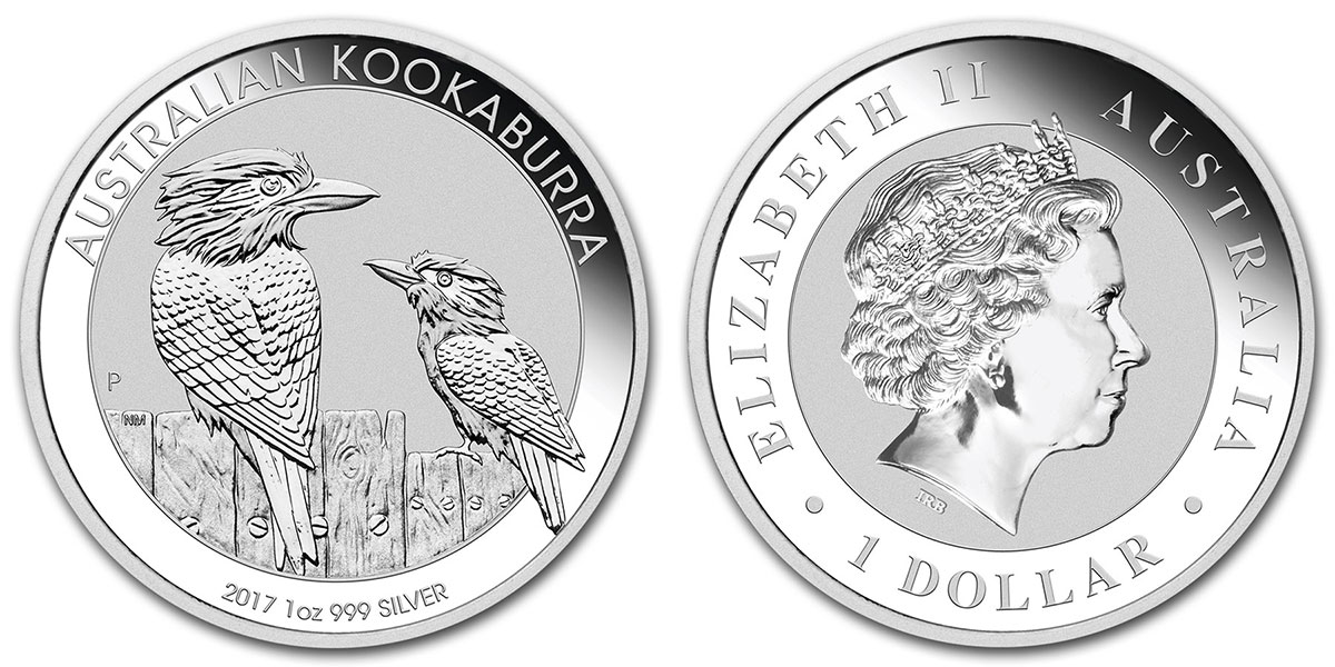 Photo pièce d'argent 1 once Kookaburra Australie 2017