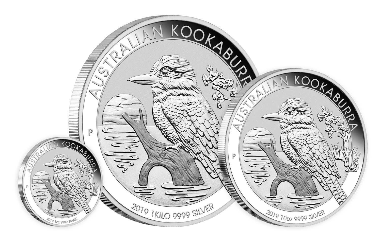 Pièces d'argent Kookaburra 2019 : de l'once au kilo...