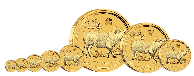 Pièces d'or Australie Année du Cochon 2019