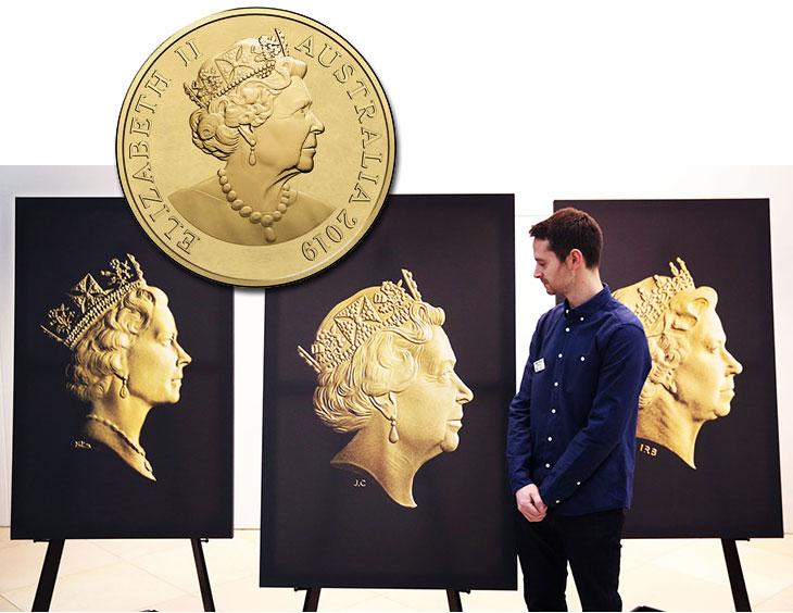 Un nouveau portrait de la Reine d'Angleterre sur les pièces d'or et d'investissement d'Australie