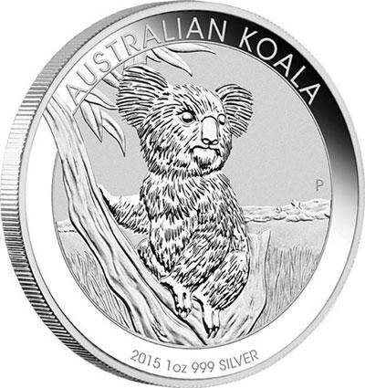 Piece argent Koala Australie 2015