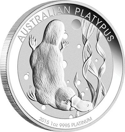 Piece platine Platypus Australie 2015