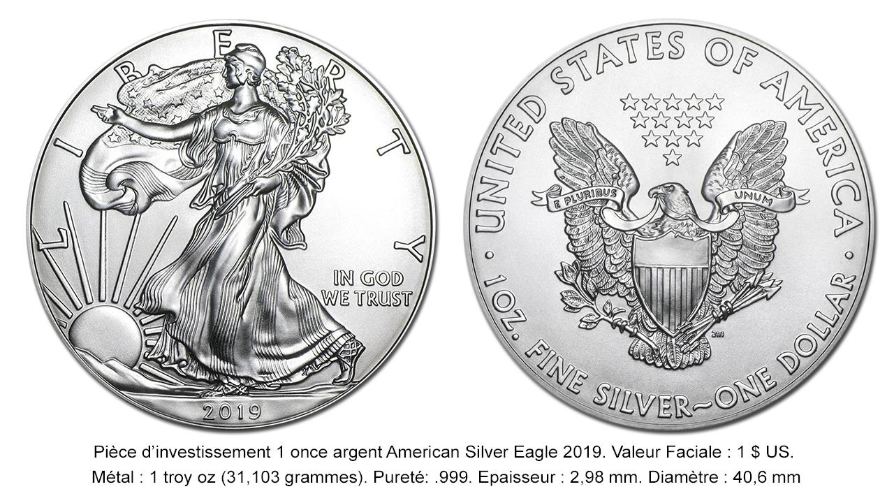 Pièce d'argent American Eagle