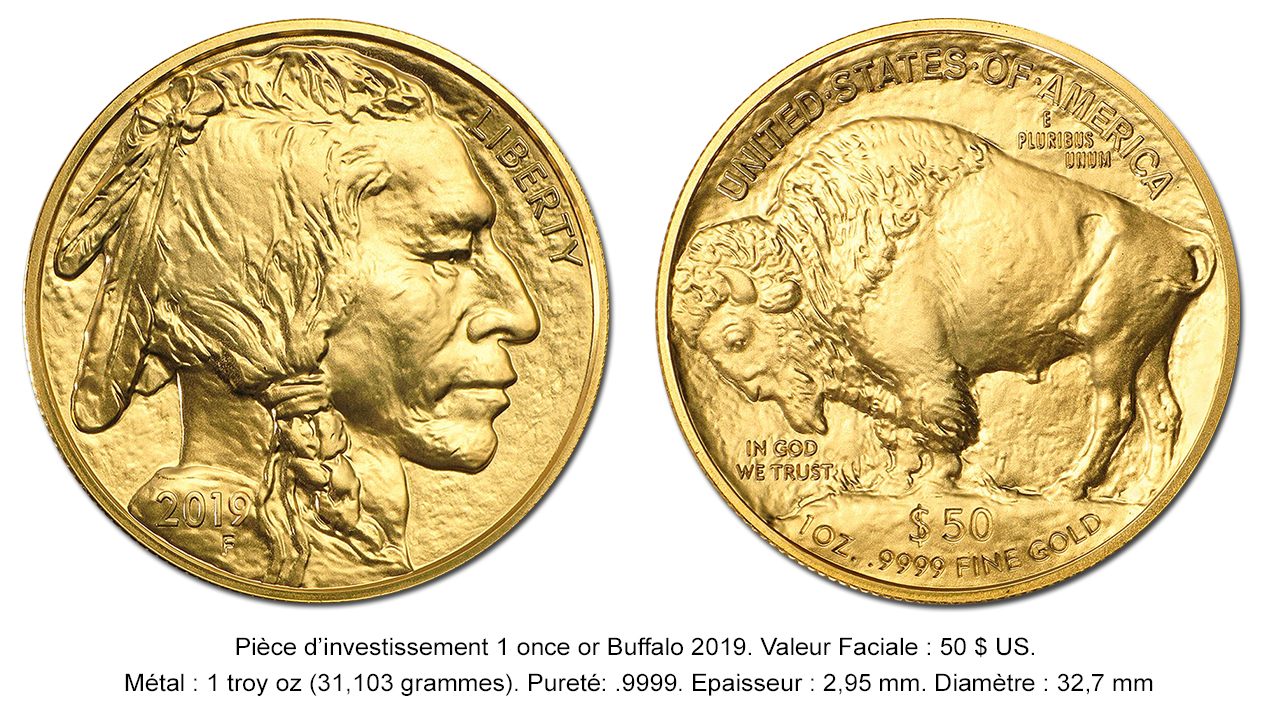 Pièce d'or American Buffalo