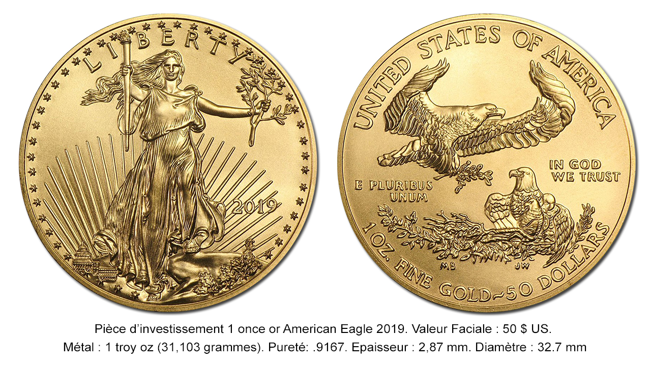 Pièce d'or American Gold Eagle