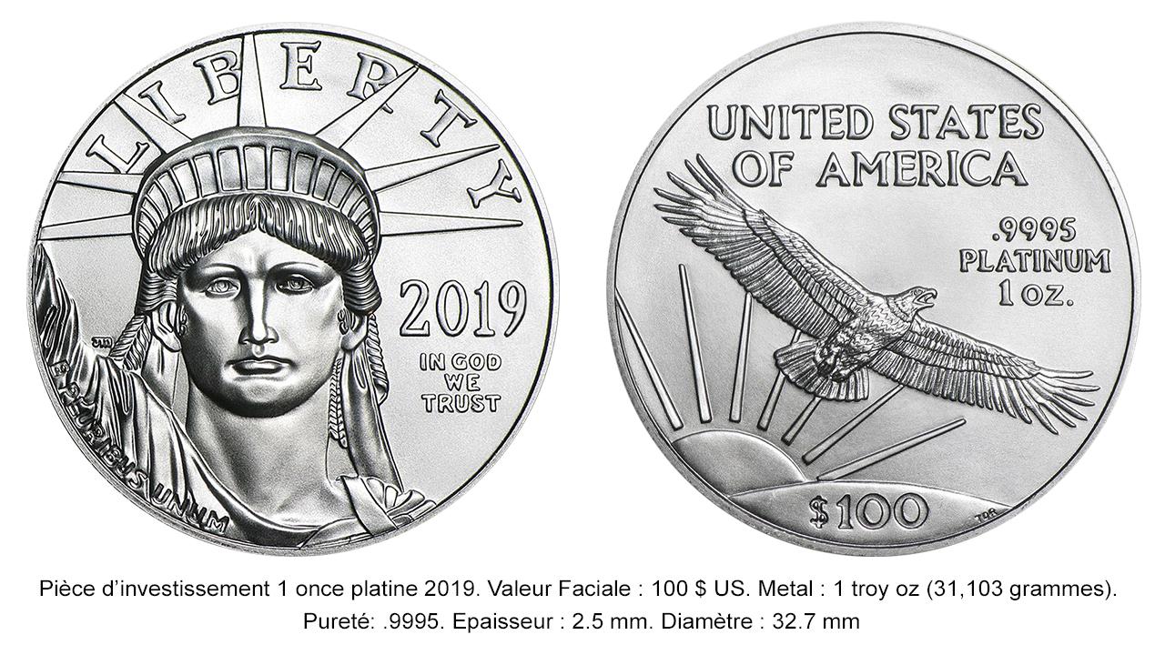 Pièce Platinum Eagle