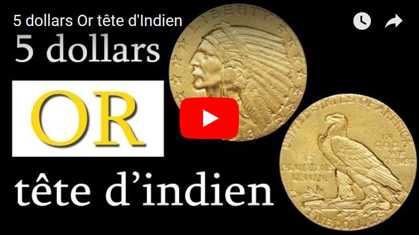 Vidéo : 5 dollars Or tête d'Indien