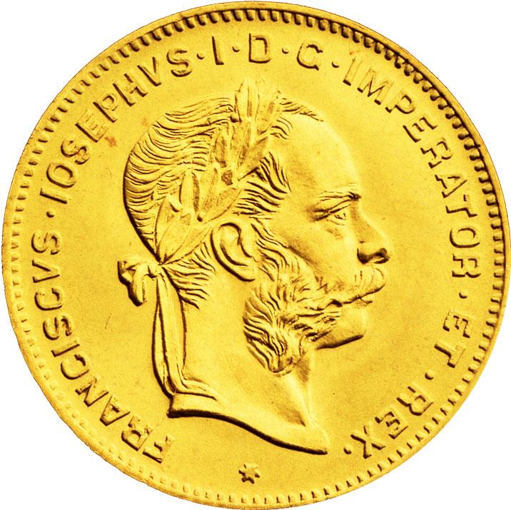4 florins d'or Autriche avers
